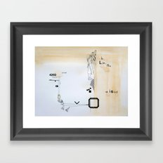 cleaning day Framed Art Print