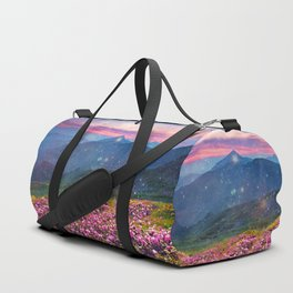 Blooming mountains Duffle Bag