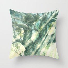 Acuarella wood Throw Pillow