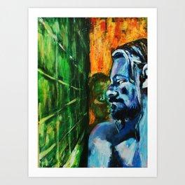 bath room situation number 357 Art Print