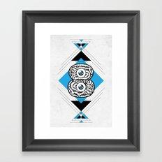 8 Brain Framed Art Print