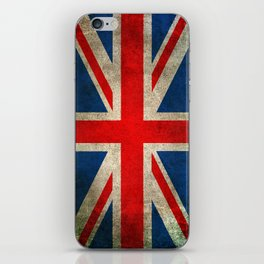 Old and Worn Distressed Vintage Union Jack Flag iPhone Skin