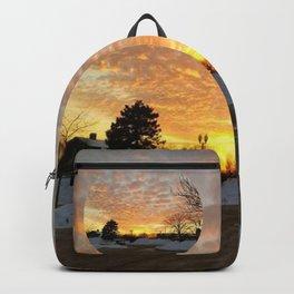 Winter Sunset, Chicago, 2018 Backpack