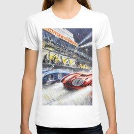 1954 Le Mans Auto Racing Advertisement Vintage Poster T-shirt
