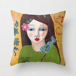 Dream, Mixed Media Artwork Throw Pillow