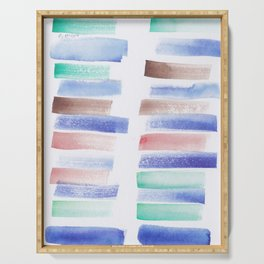 26 | 181101 Watercolour Palette Abstract Art | Lines | Stripes | Serving Tray