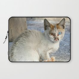Kitten under a car Laptop Sleeve