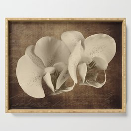 Vintage Flowers Digital Collage 21 Serving Tray