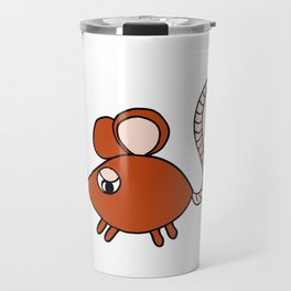 Drawn by hand a Friendly little mouse for children and adults Travel Mug