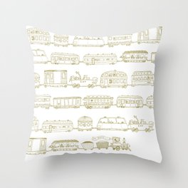 Marco's train - Bronze Throw Pillow