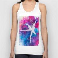 ballerina Tank Tops featuring Ballerina by Slaveika Aladjova