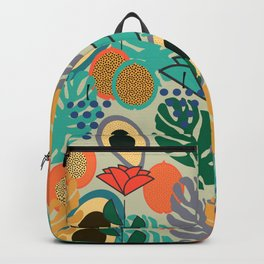Monstera, fruits and flowers Backpack