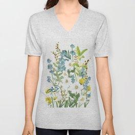 Wildflowers VI Unisex V-Neck