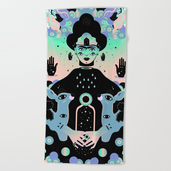 Las lunas de Frida Beach Towel