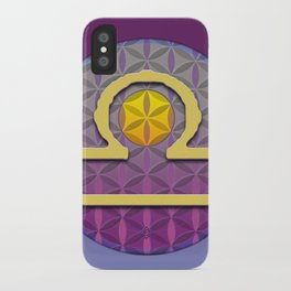 Flower of Life LIBRA Astrology Design iPhone Case