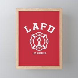 LA Firefighters Framed Mini Art Print