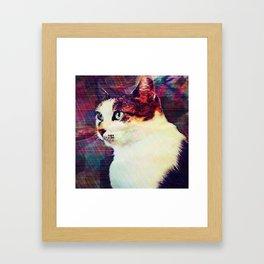 80s Cat Framed Art Print