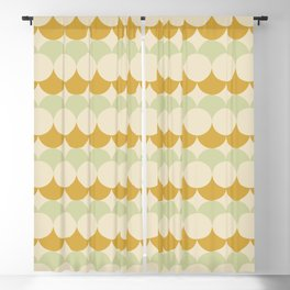 Retro Circular Pattern III Blackout Curtain