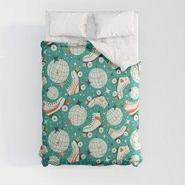 Roller Disco Aqua Comforters