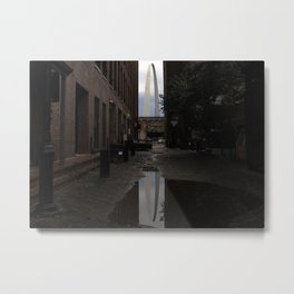 Arch from the Alley Metal Print