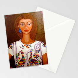 Metizo woman - heiress of cultures Stationery Cards