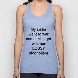 Sister/ Alcoholism Unisex Tank Top