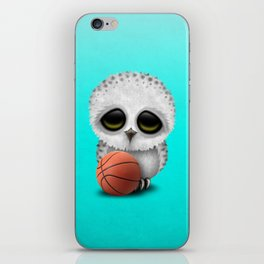 Cute Baby Owl Playing With Basketball iPhone Skin