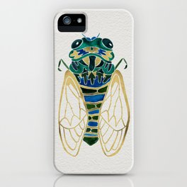 Green & Gold Cicada iPhone Case