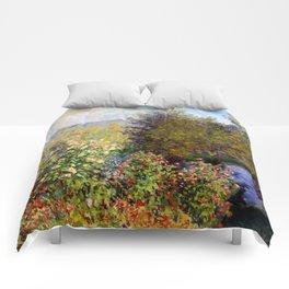 """Claude Monet """"Corner of the Garden at Montgeron"""" Comforters"""