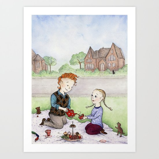 Sophisticated Play Time Art Print