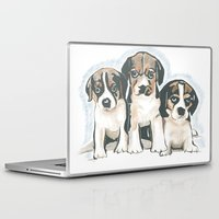puppies Laptop & iPad Skins featuring Puppies 1 by JennFolds5 * Jennifer Delamar-Goss