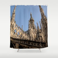 milan Shower Curtains featuring Milan by Alan Wong