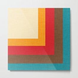 Abstract Mod Cube Beige #midcenturymodern Metal Print