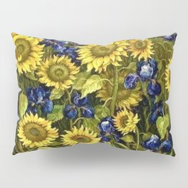 Sunflowers & Blue Irises by Vincent van Gogh Pillow Sham