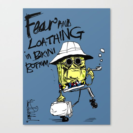 Fear and Loathing in Bikini Bottom Canvas Print
