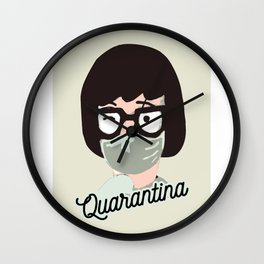 Quarantina Wall Clock