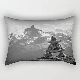 Black Tusk and the Inukshuk Rectangular Pillow