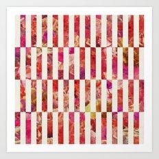 PINK FLORAL ORDER Art Print