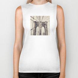 Brooklyn bridge, New York city, black & white photography, wall decoration, home decor, nyc fine art Biker Tank