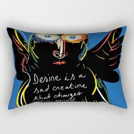 Desire is Street Art Graffiti Rectangular Pillow