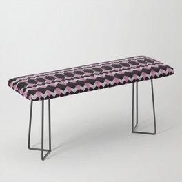 Pink Flamingos Art Deco Pattern Bench