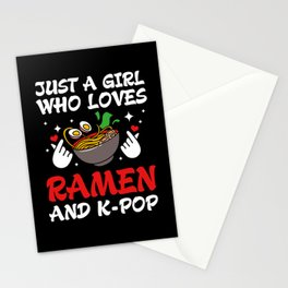 Kpop Just A Girl Who Loves Ramen And K-pop Stationery Cards