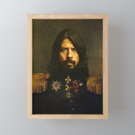 Dave Grohl - replaceface Framed Mini Art Print