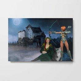 Castle Guardians Metal Print