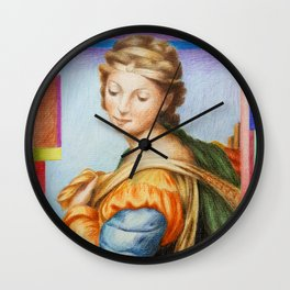 Sta Barbara. after Raphael Wall Clock