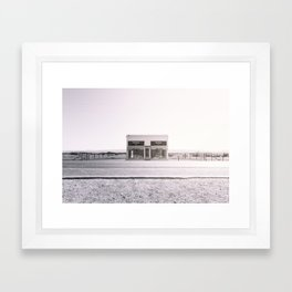PradaMarfa - Black and White Version Framed Art Print
