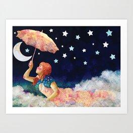 Luna de papel Art Print