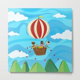Kindness Balloon Metal Print