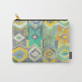 Kilim Me Softly in Turquoise Carry-All Pouch