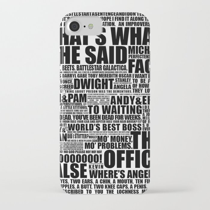 the office b&w iphone case